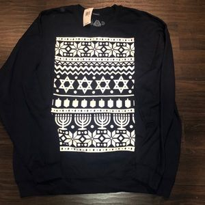 Chanukah 🕎 Hanukkah sweatshirt NWT Mens XL